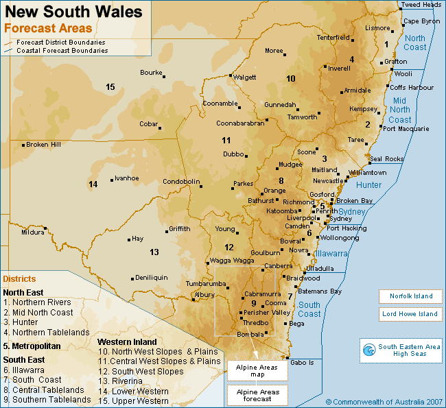 Weather Map Nsw NSW Northern Tablelands Snow Chase Forecasting Guide   Northern